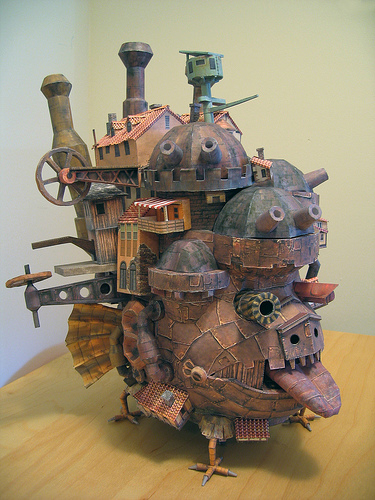 Papercraft  Howl's moving castle