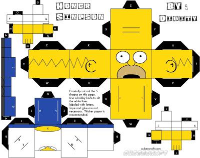 Papercraft Homer simpson