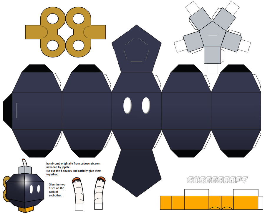 Papercraft templates guidance