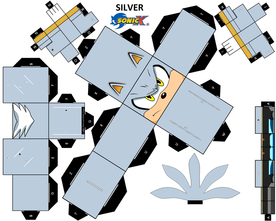 Papercraft Silver Sonic Template
