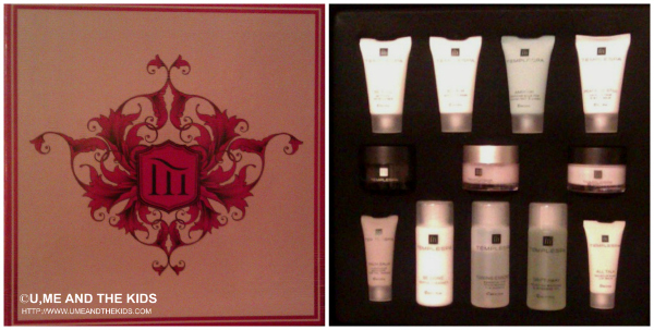 temple spa skincare class packaging and products