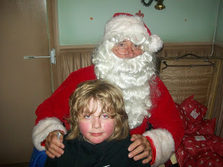 Santa with Jake at Stockeld Christmas Adventure Park
