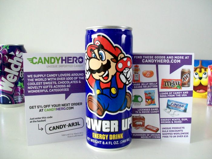 mario power up energy drink