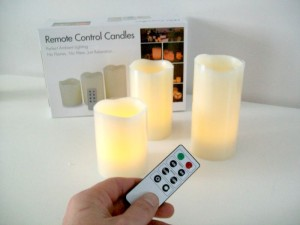 Remote Control Candles Review – The Less Dangerous LED option.