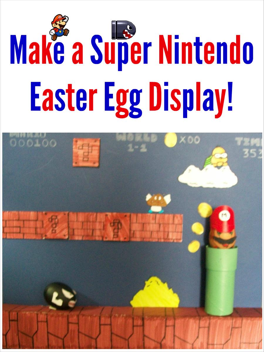 Easter Egg Decorations Super Mario Scene