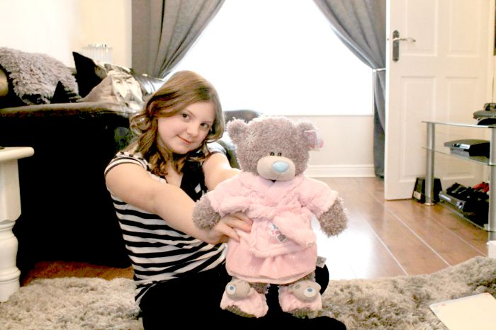 dress up tatty teddy in pink dressing gown