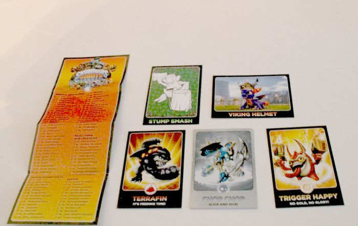 skylander giants trading cards and list