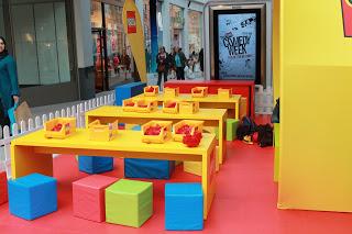 LEGO Store Leeds building brick area