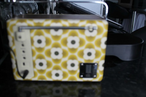Pure Evoke Mio DAB Radio, Orla Kiely Buttercup Edition rear view