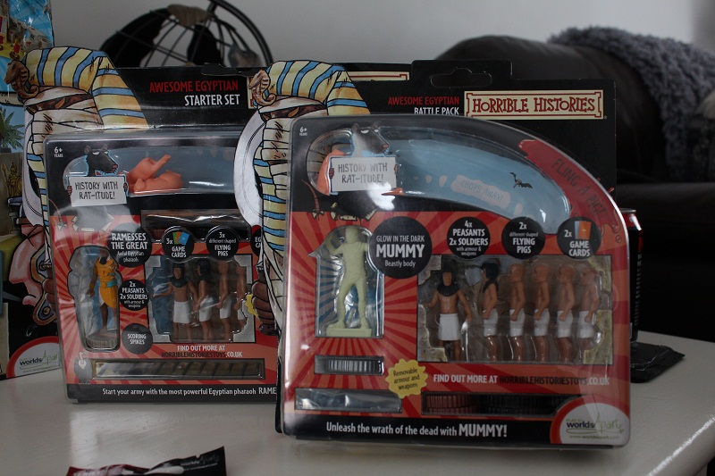 dad had the Egyptian starter  and the new series 2 battle pack with the jackal-headed Egyptian God Anubis, a special hero Mummy and awesome Gladiator.