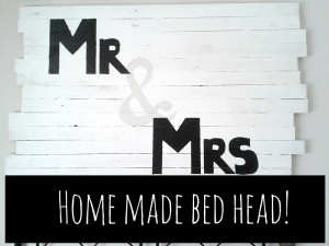 Bedroom makeover – Home-Made Feature Headboard