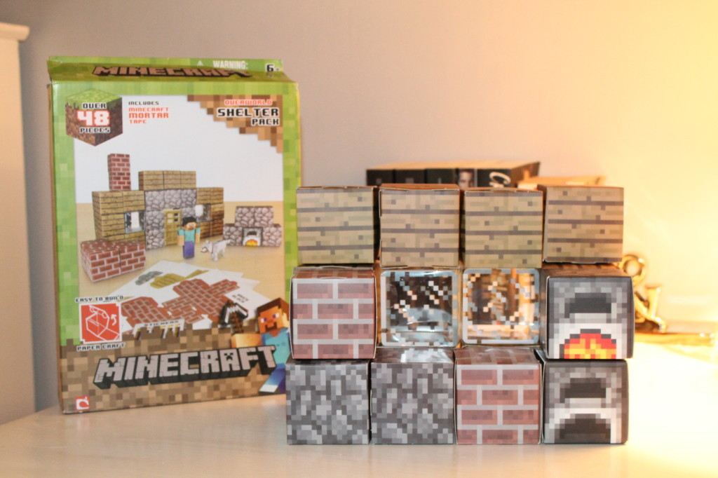 Minecraft Papercraft (Overworld) Shelter Pack