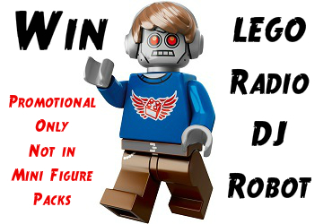 robotdj #Win a Promotional #Lego Movie Radio DJ Robot