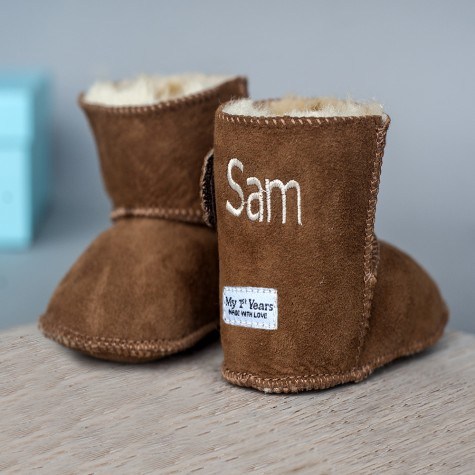 tan sheepskin booties 1000x1000 My 1ST Years: Pure Love Personalised Baby Padded Jacket