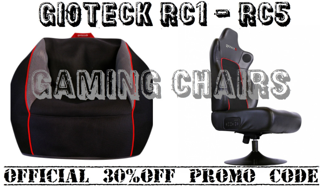 rc1 gaming 30% discount on the Gioteck RC 1and RC 5 gaming chairs