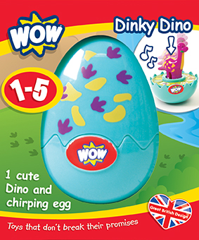 10161 Plano Win 1 of 3 sets Wow toys My Chirping Chick & Dinky Dino Eggs