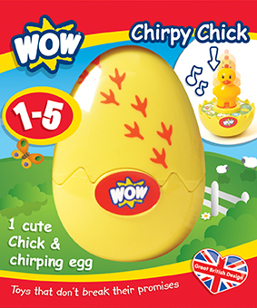 10169 Plano Win 1 of 3 sets Wow toys My Chirping Chick & Dinky Dino Eggs