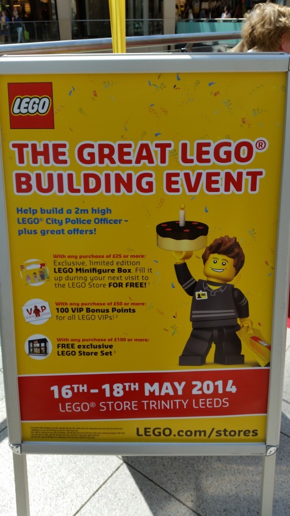 Places to go with the kids: Lego Trinity Center Leeds 1st Birthday