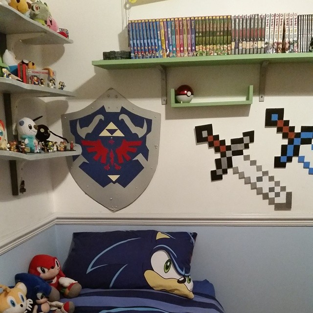 #Boysbedroom #gamingroom #zelda #pokemon