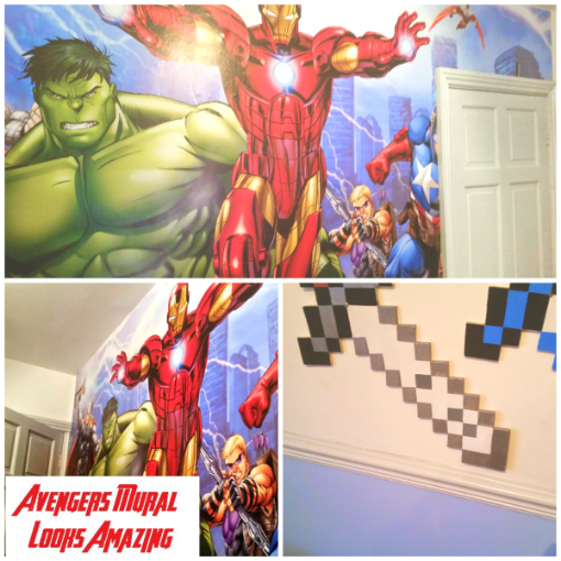 Avengers Dulux Bedroom in a box-Mural2