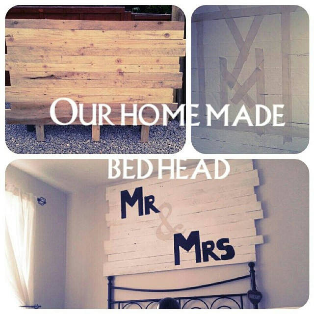 We made this bed head for our bedroom! It really makes our room look spectacular. #design #uniqueideas #lifestyle #bedroom #loveit #diy
