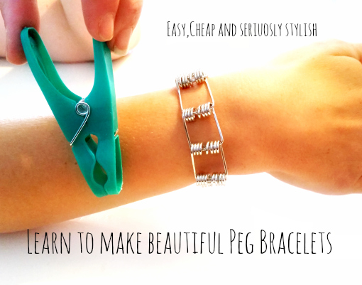 How to Make  A DIY Bracelet from Pegs