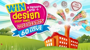 Win A VIP Factory Trip & Design your very own Love Hearts Competition
