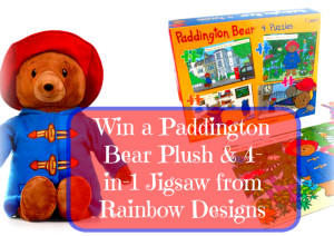 Win a Paddington Bear Plush and 4 in 1 Puzzle with stickers