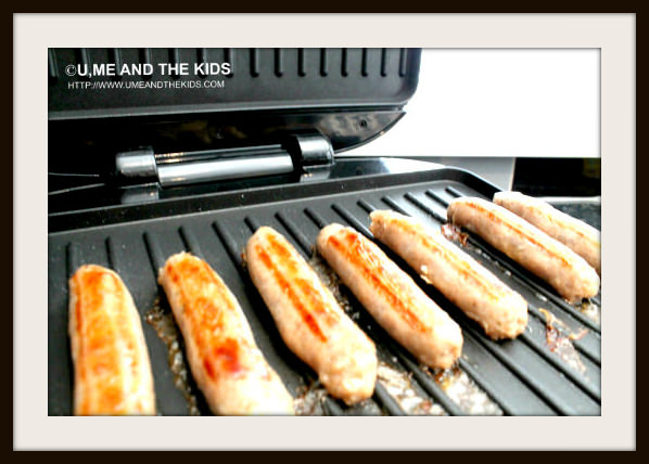 George Foreman Grill - 6 person Entertaining Grill Cooking food