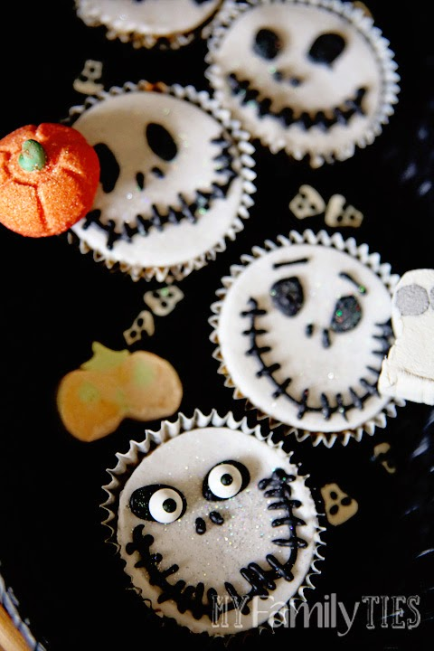 Halloween Ideas Jack Skellington Cupcakes