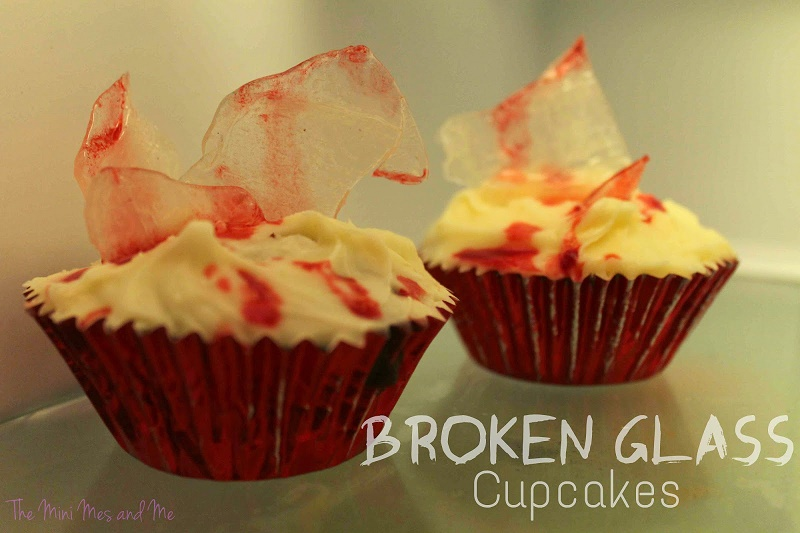 How to make Halloween broken glass cupcakes recipe
