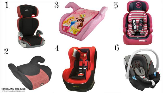 car seats uk range