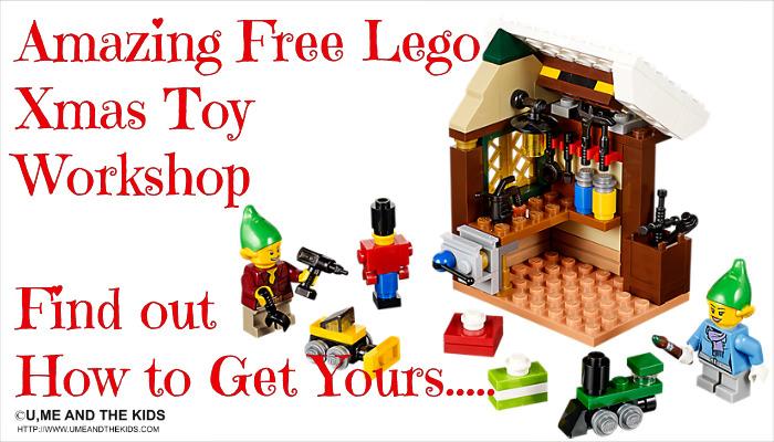 free christmas lego toy workshop