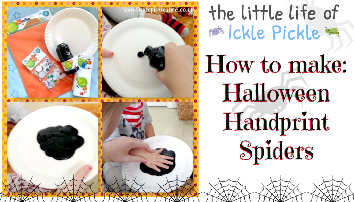 halloween handprint spiders