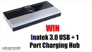 Inatek 3.0 USB + 1 Port Charging Hub + Competition