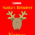 Kids Activities Learning Santas Reindeer names