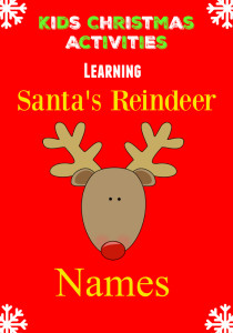Who will be pulling Santa's Sleigh? Learning Reindeer Names