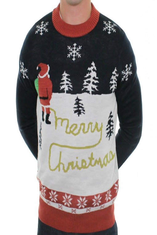 Naughty_Christmas_Jumpers_humping_reindeer_cardigan_front_yellow_snow