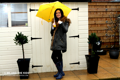 Wellington Boots By Designer Joules Rachel Hirst wearing