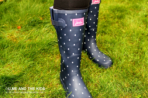Wellington Boots By Designer Joules close up