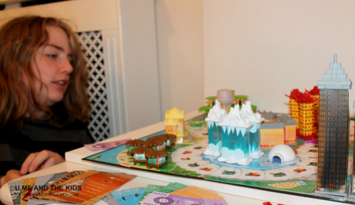 hotel tycoon board game being played