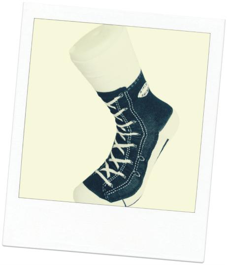 secret santa ideas Black Sneaker Silly Socks