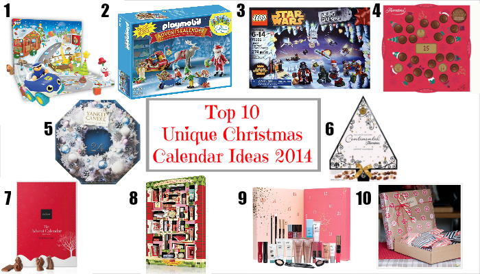 unique christmas calendars 2104 selection