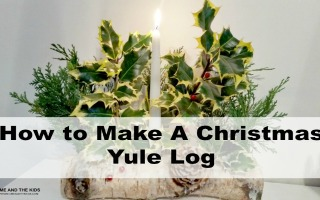 Easy Christmas Crafts for Kids Tutorial make a yule log