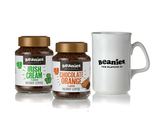 Gifts for him beanies White Mug with Irish Cream and Choc Orange