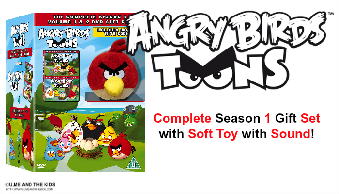 angry birds toons complete season 1 gift set with soft toys with sound