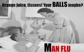 Caring for men with man flu