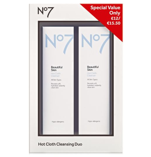 Boots Deals No7 Hot Cloth Cleansing Duo