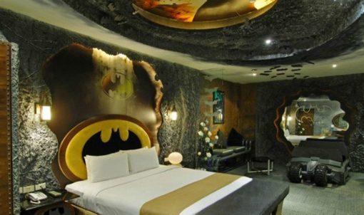 Teen Room Ideas, Batcave with Batman Sign
