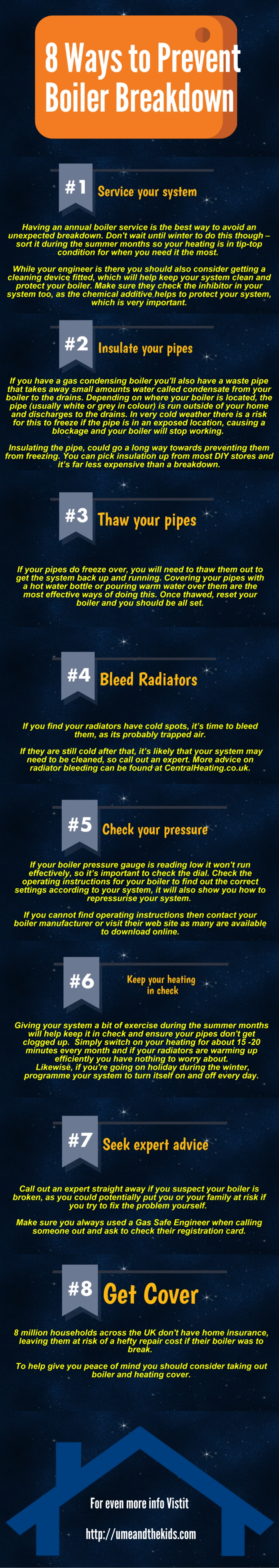8 top tips to prevent boiler breakdowns all year round infographic size 900x5064